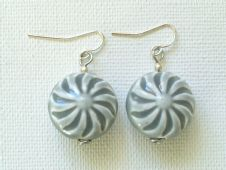 Ceramic spiral earrings